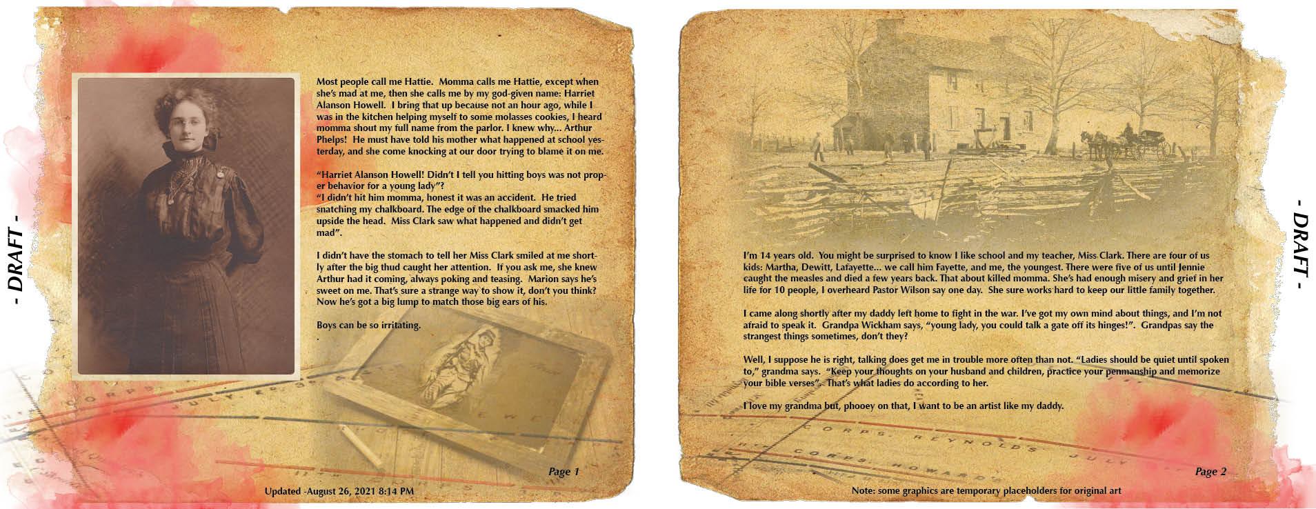 Creating Hattie's War #6 – Who is Hattie?
